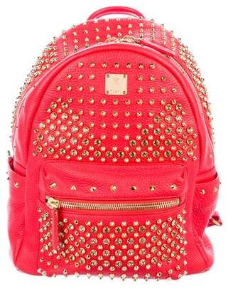 MCM Embellished Leather Backpack w/ Tags