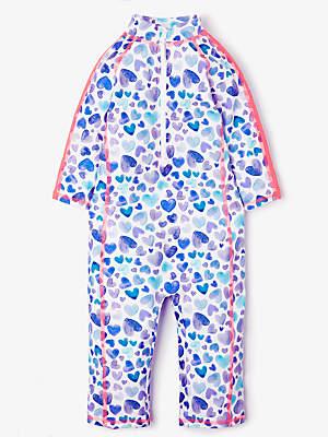 John Lewis   Partners Girls  Painted Heart Print UV SunPro Suit f0f68e7136da