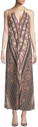 Raga Women's Printed Halter Maxi Dress