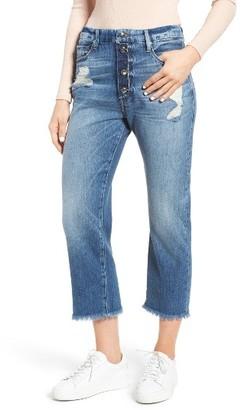Women's Good American Good Cuts High Waist Boyfriend Jeans $179 thestylecure.com