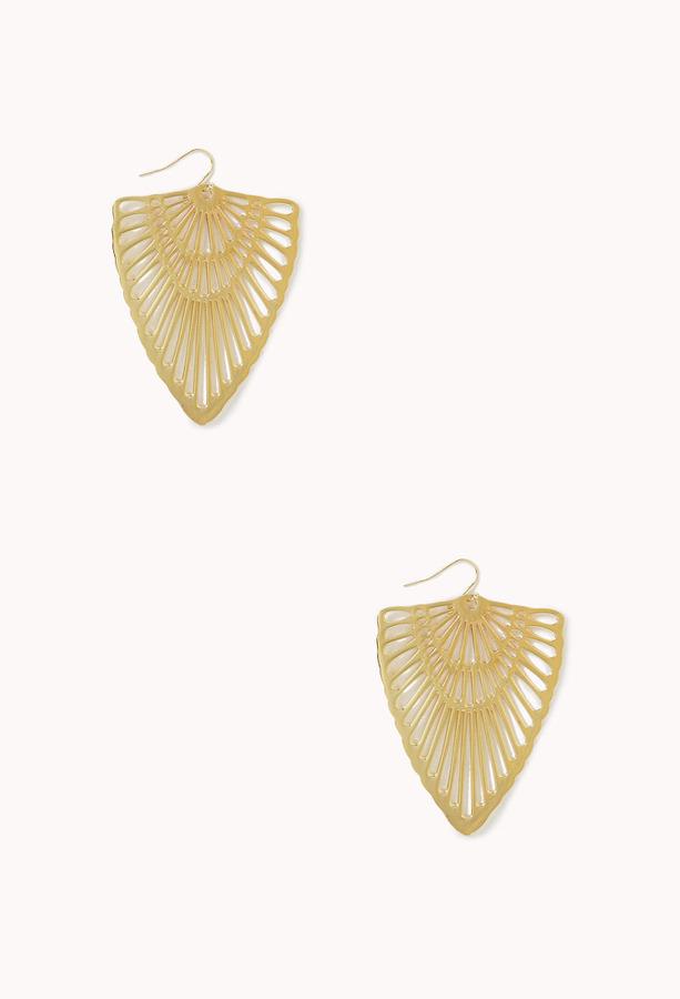Forever 21 Cutout Arrowhead Drop Earrings