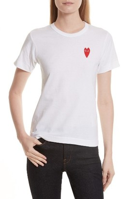 Women's Comme Des Garcons Play Heart Tee $88 thestylecure.com