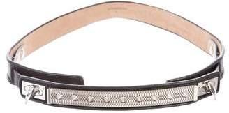 Givenchy Studded Shark-Lock Belt