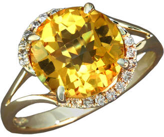 Effy Fine Jewelry 14K 3.28 Ct. Tw. Diamond & Citrine Ring