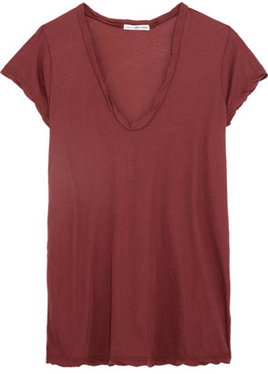 James Perse - Cotton-jersey T-shirt - Red $85 thestylecure.com