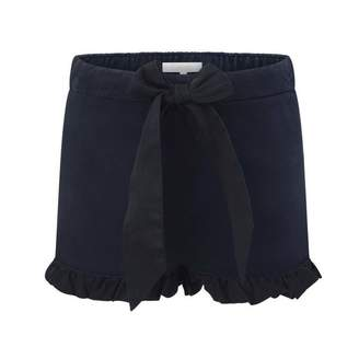 Chloé ChloeBaby Girls Navy Frilly Trim Shorts