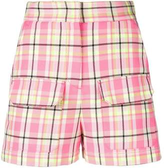 MSGM plaid high-waisted shorts