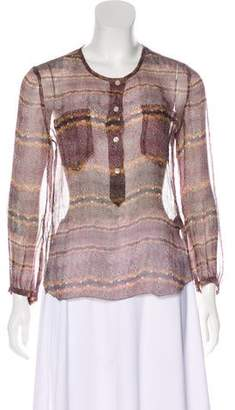 Etoile Isabel Marant Silk Long Sleeve Top