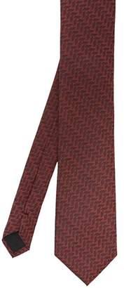 Ted Baker Reux Geometric-Print Silk Skinny Tie