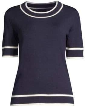 Escada Stilen Knit Wool Tee
