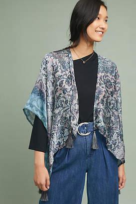 Elizabeth Gillett Tasseled Tapestry Kimono