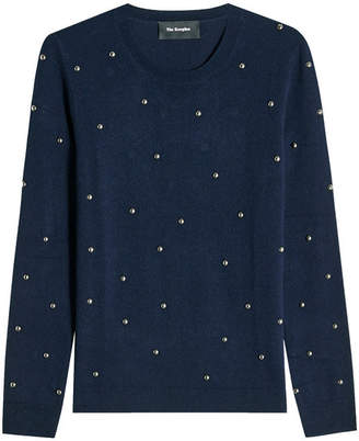 The Kooples Embellished Wool Pullover with Cashmere