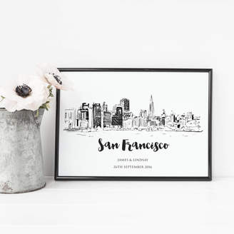 2by2 Creative San Francisco Skyline Illustrated Art Print