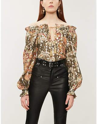 f0ad3bcc1cb29 Dundas Off-the-shoulder silk-blend top