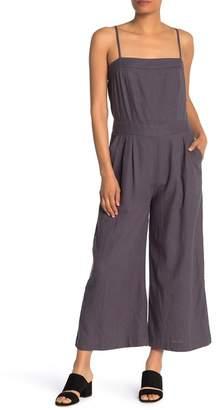 Susina Solid Linen Blend Jumpsuit (Regular & Petite)