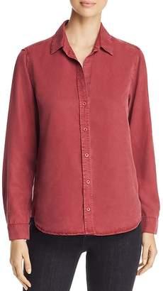 Side Stitch High/Low Button Down Shirt