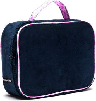 Melissa Beth Deep Blue Kiss And Make Up Cosmetic Bag