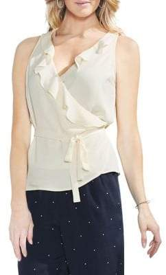 Vince Camuto Sleeveless Ruffle Wrap Top