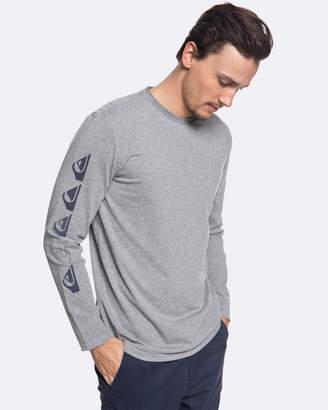 Quiksilver Mens Double Stringer Technical UPF 30 Long Sleeve T Shirt