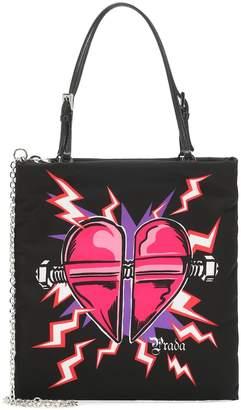 Prada Heart-print nylon tote