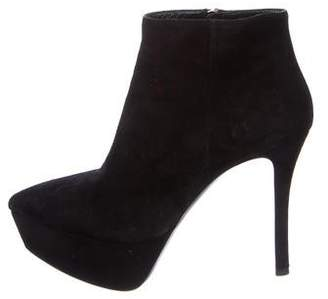 Miu Miu Suede Pointed-Toe Booties