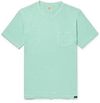 Faherty Slim-Fit Garment-Dyed Slub Cotton-Jersey T-Shirt - Blue