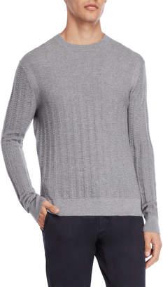 American Designer Grey Crew Neck Wool Sweater
