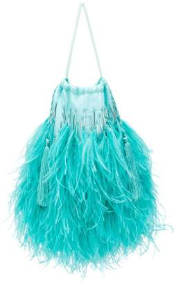 ATTICO feathered clutch bag