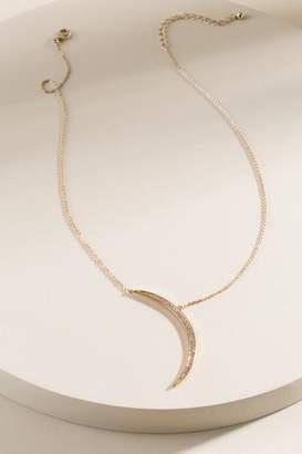 francesca's Talia Crescent Moon Necklace - Gold