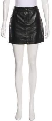 Anine Bing Leather Mini Skirt