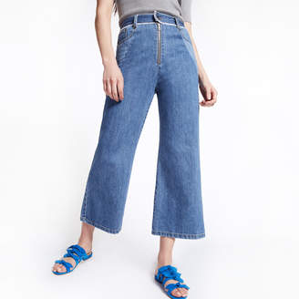 Sea Two-Tone Denim Pants