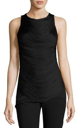 Ralph Lauren Collection Looped-Fringe Jersey Tank, Black $650 thestylecure.com
