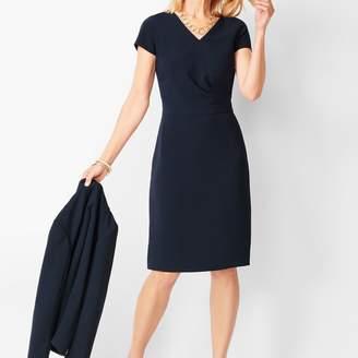 Talbots Easy Travel Faux-Wrap Sheath Dress