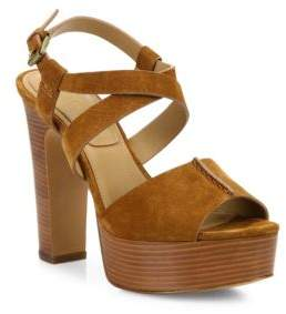 Michael Kors Collection Gramercy Suede Platform Sandals