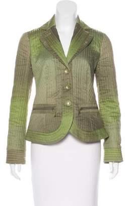 Armani Collezioni Linen-Blend Quilted Blazer