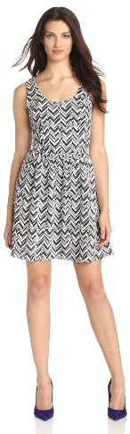 Collective Concepts Women's Fit-and-Flare Diagonal Dress