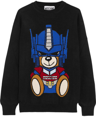 Moschino - Intarsia Wool Sweater - Black