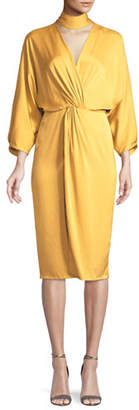 Diane von Furstenberg Twist-Front Crepe Wrap Dress