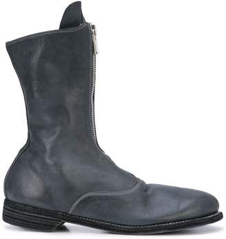 Guidi zipped mid-calf boots