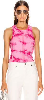Proenza Schouler Pswl PSWL Tie Dye Rib Tank Top in Orchid & Pink Tie Dye | FWRD