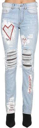 Burton Mjb - Marc Jacques Crixus Iii Destroyed Denim Jeans