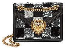 Dolce & Gabbana Women's Mini Devotion Sequin Crossbody Bag