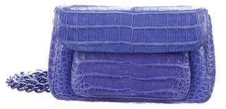 Nancy Gonzalez Crocodile Flap Crossbody Bag