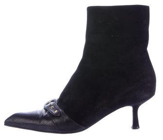 Chanel Karung-Trimmed Ankle Boots