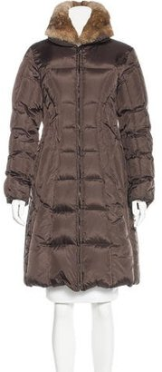 Andrew Marc Fur-Trimmed Down Coat $350 thestylecure.com