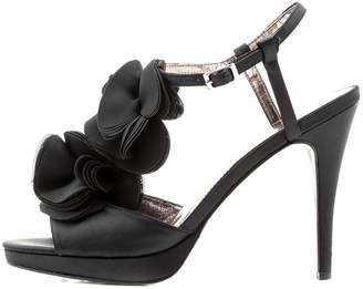 Sacha Black Ruffle Heel