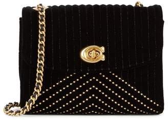 Coach Parker 18 Black Velvet Shoulder Bag