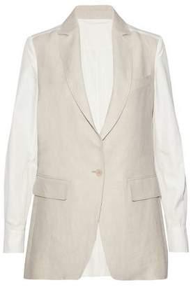 Max Mara Breda Linen And Cotton-Poplin Jacket
