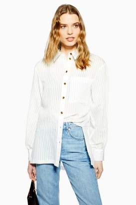 Topshop Womens Stripe Oversized Shirt