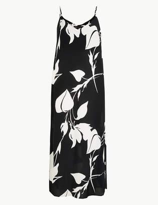 Marks and Spencer Printed Slip Midi Dress